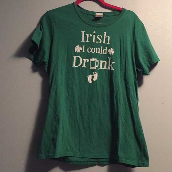 """a35101aad0b Tops - St Patty s Day Maternity top """"Irish I could drink"""""""
